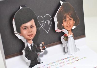 Convite de Casamento Premium Vanessa e João