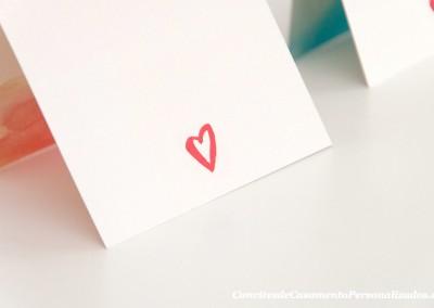 Convite de casamento vip padrinhos aguarelas