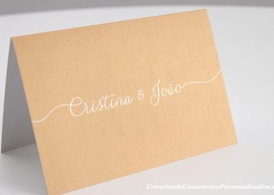 Convite de casamento storytelling Cristina e João