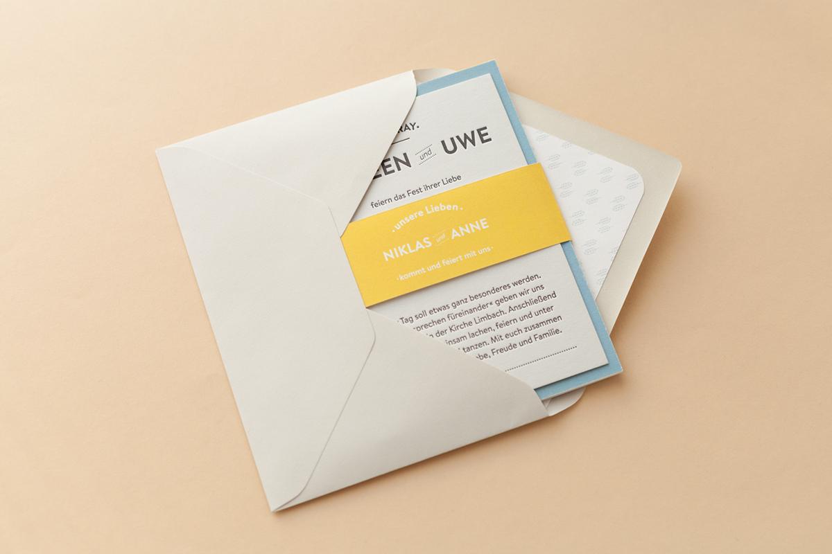 Convite de Casamento Criativo Lettering envelope