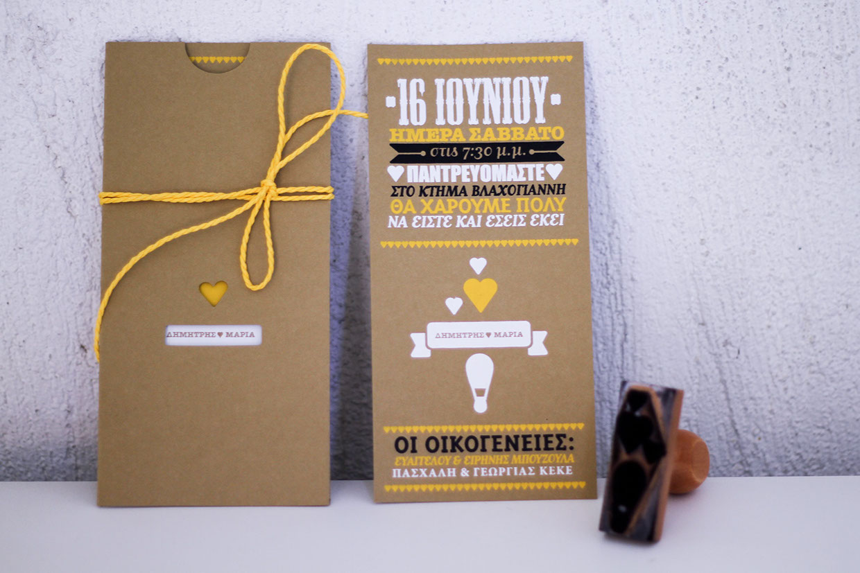 Convite de Casamento Carimbo, Craft