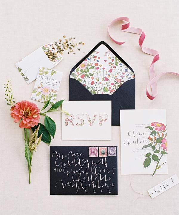 Convite de Casamento Floral inpirador