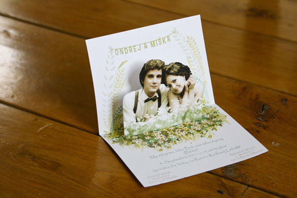 Convite de Casamento Pop-up