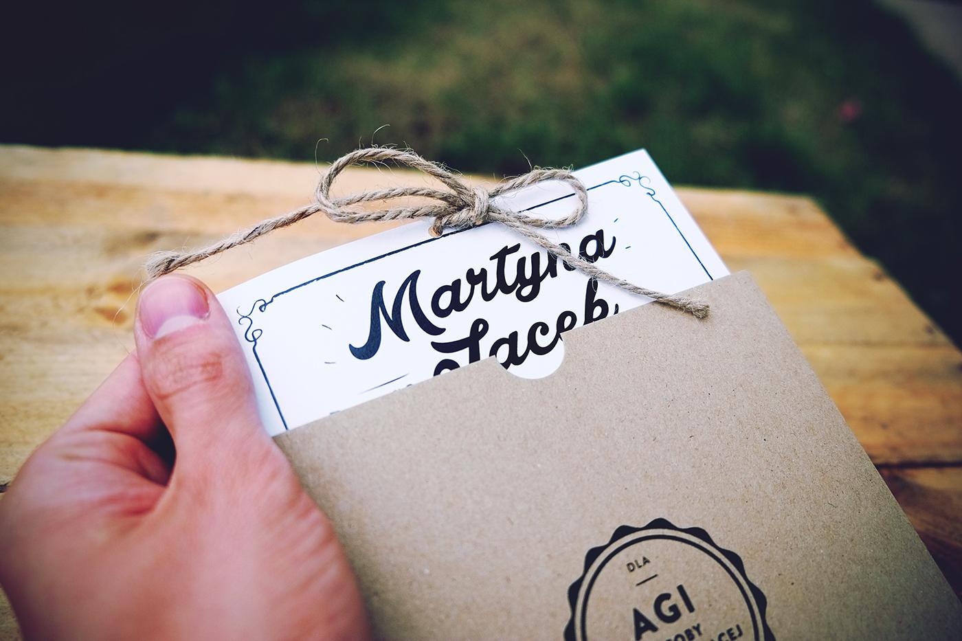Convite de Casamento Craft envelope e convite