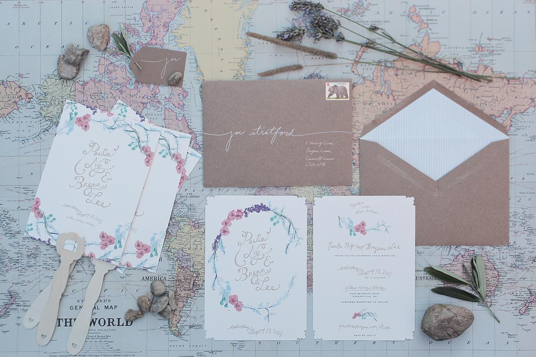 convite de casamento floral aguarela: todos os elementos
