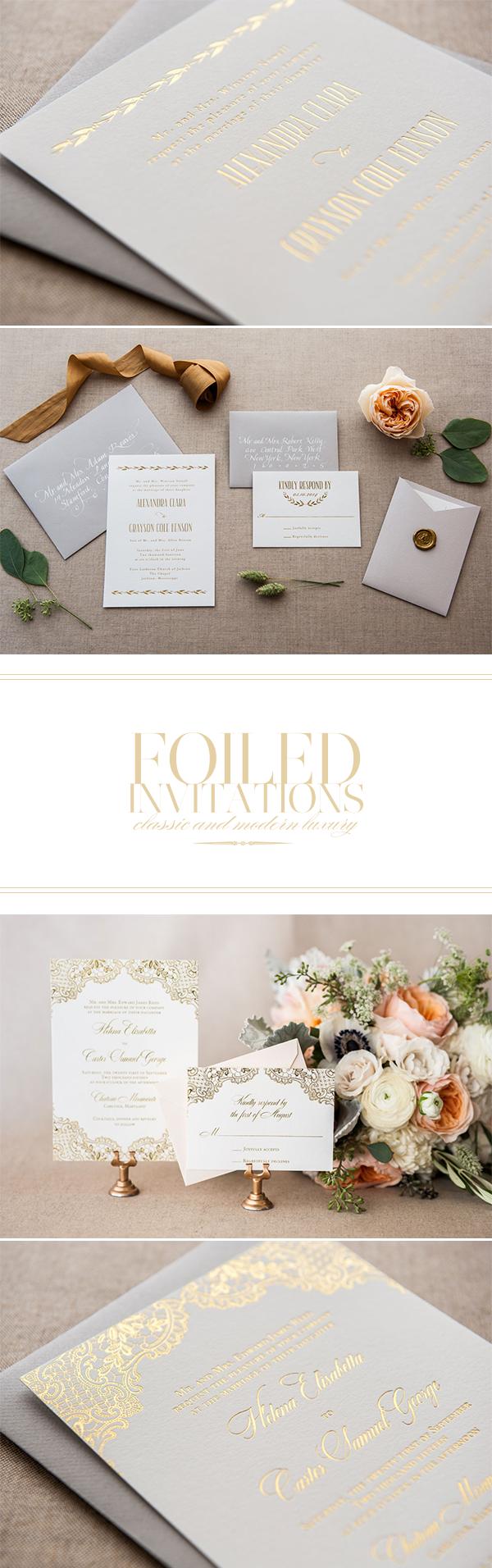 Convite de Casamento Premium Dourado