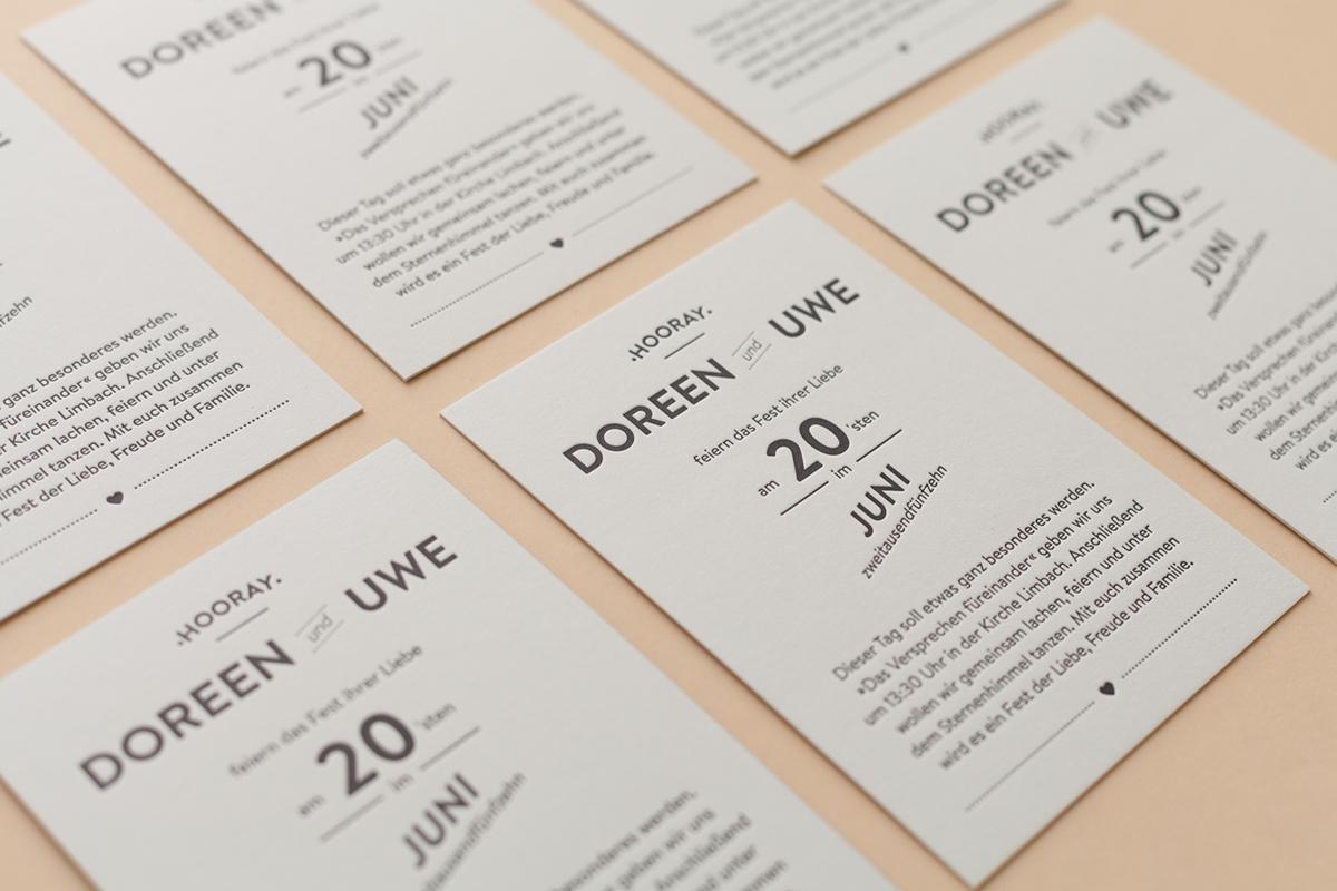 Convite de Casamento Criativo Lettering pormenor convite