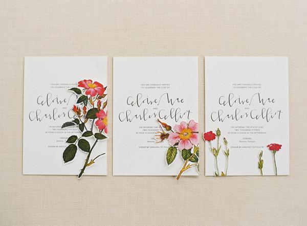 Convite de Casamento Floral diferentes