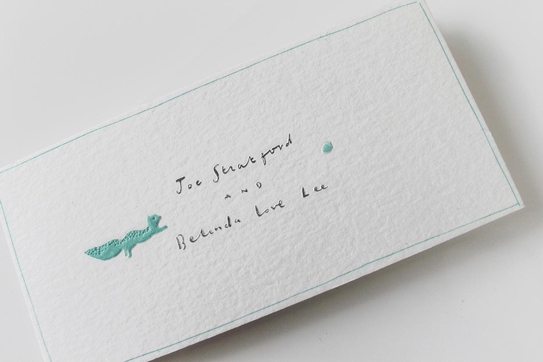 convite de casamento desdobrável e ofertas: capa