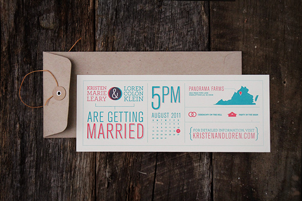 Convite de Casamento Carimbo