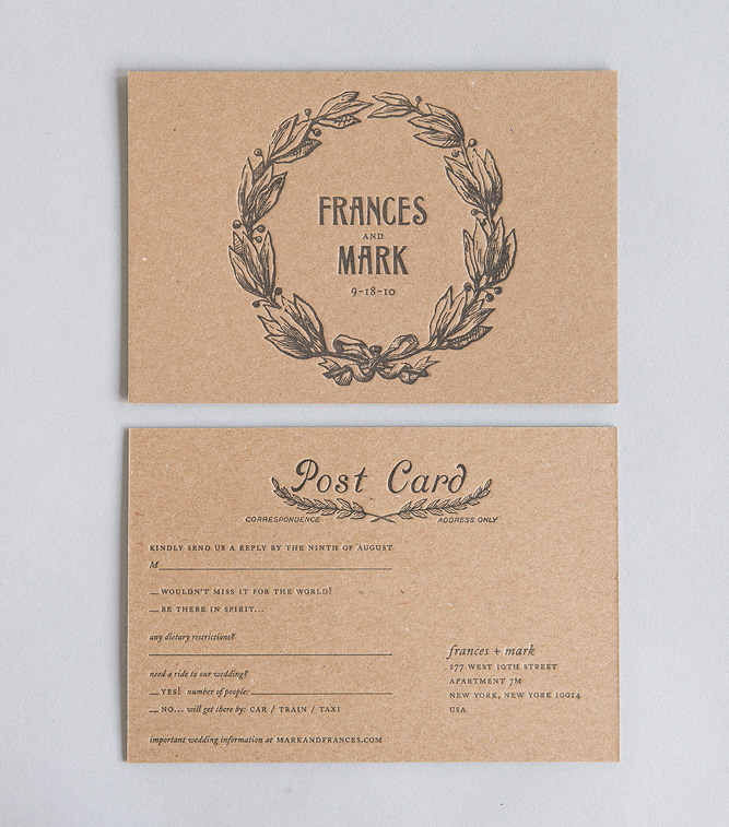 Convite de Casamento Lenço