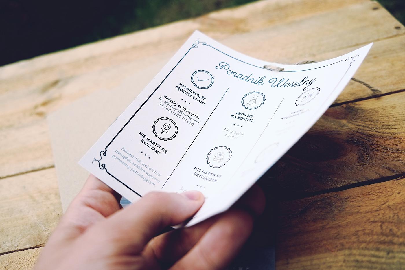 Convite de Casamento Craft verso