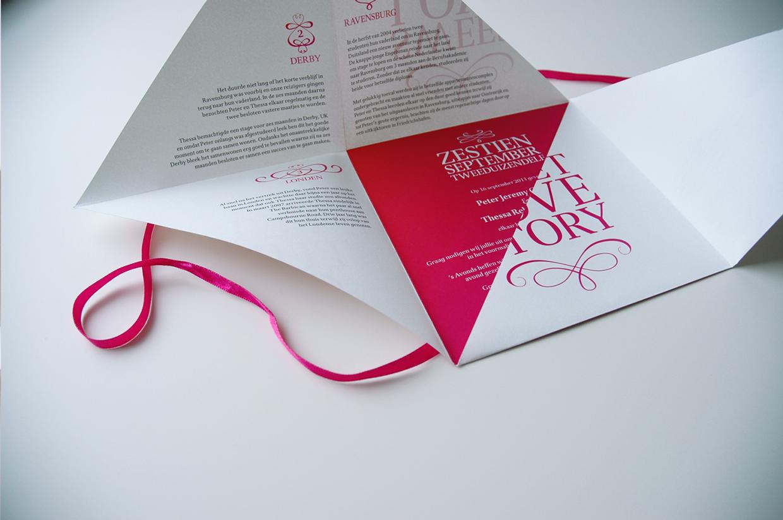 Convite de Casamento Desdobrável Criativo aberto 2