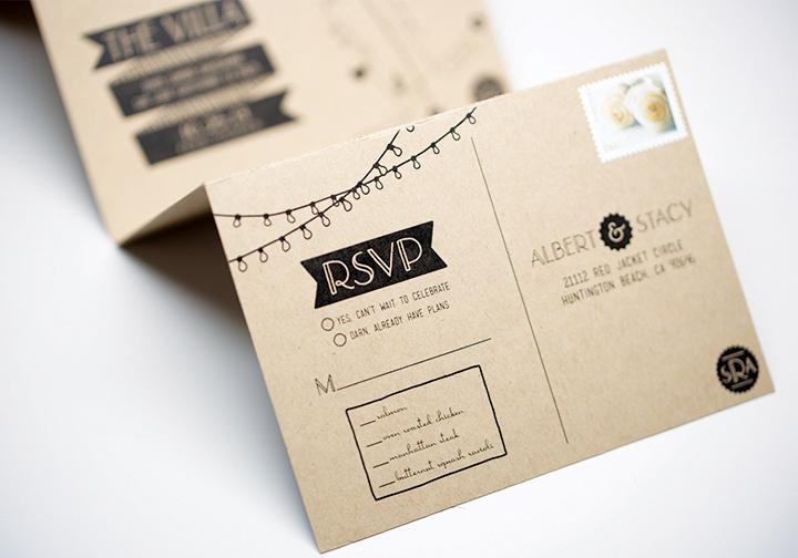 Convite de Casamento Cartão Desdobrável