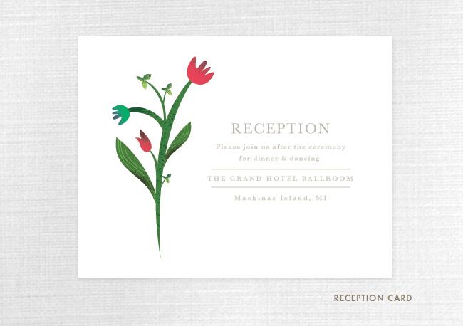 convite de casamento primavera cartao