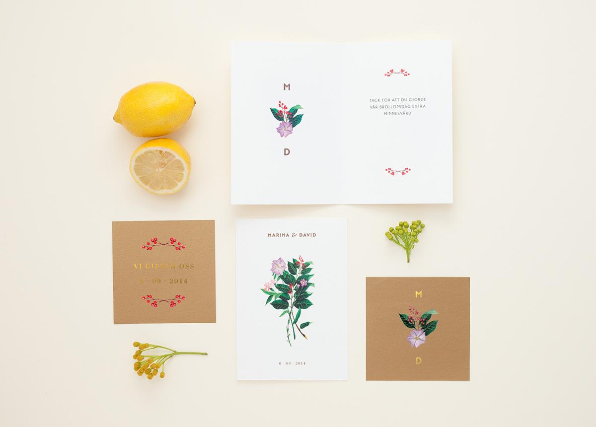 Convite de Casamento Floral Dourado interior