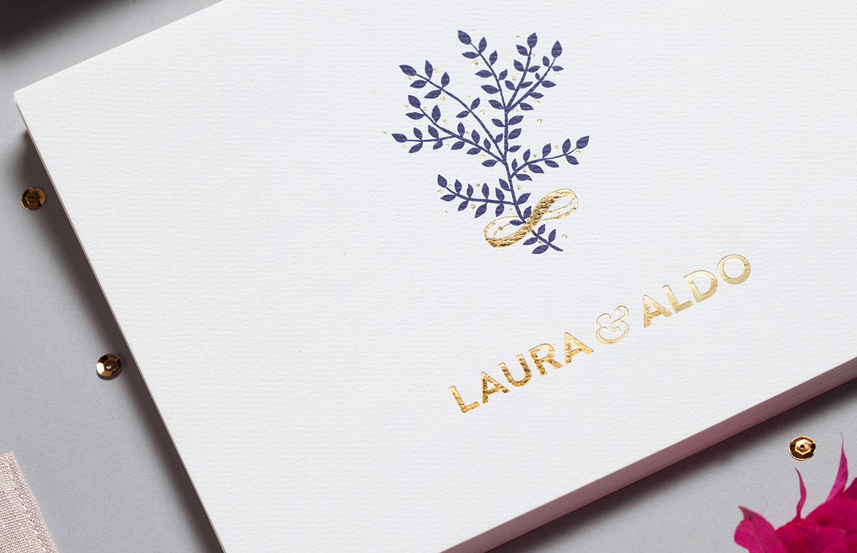 convite casamento natural e ofertas: detalhe capa