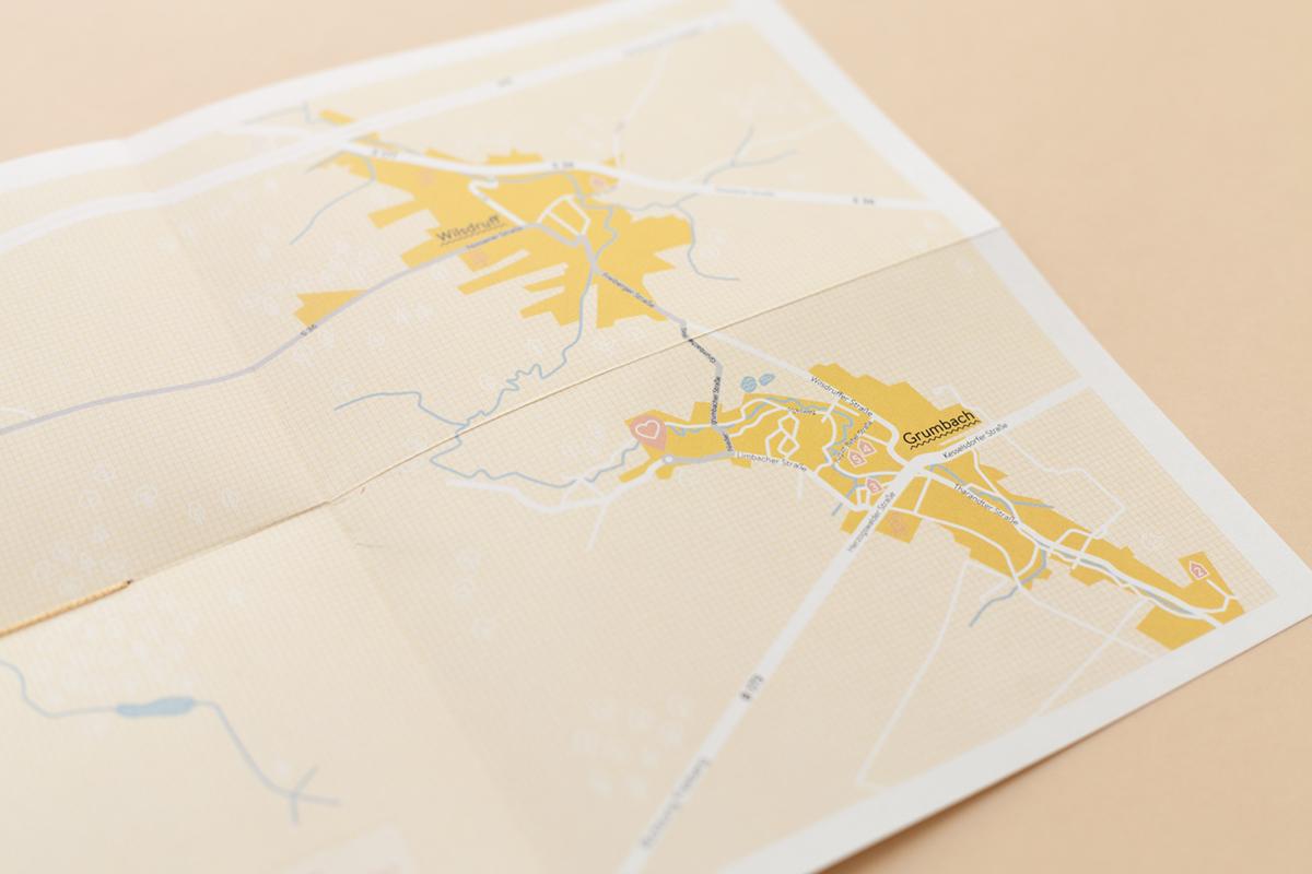 Convite de Casamento Criativo Lettering mapa