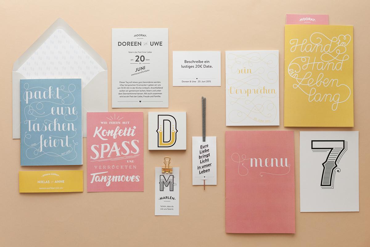 Convite de Casamento Criativo Lettering