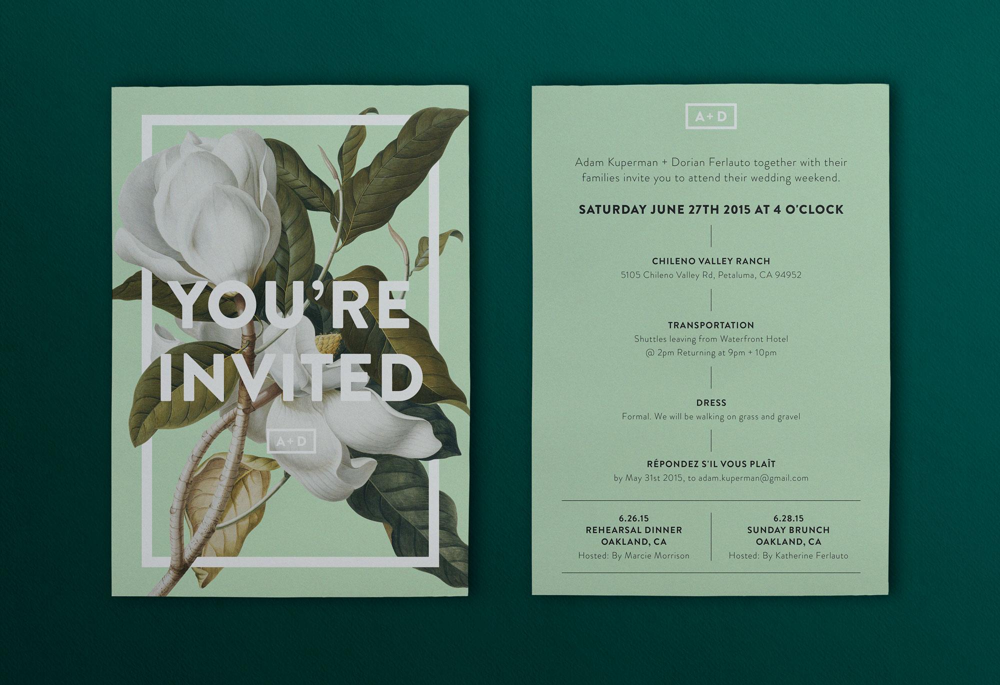 Convite de casamento primavera: horários