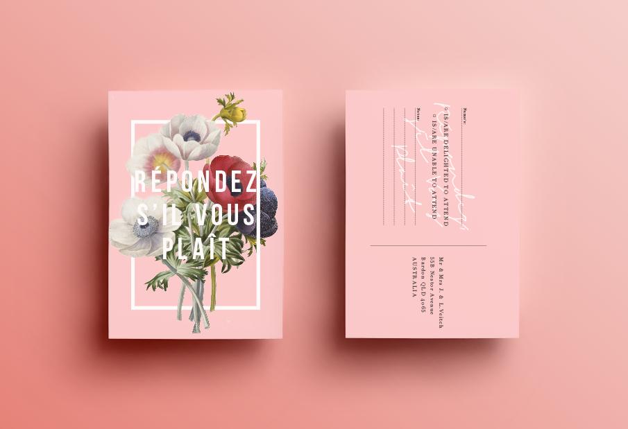 Convite de Casamento botânico: resposta