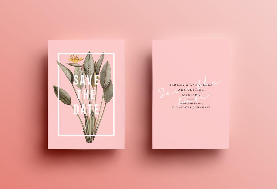 Convite de Casamento botânico: save the date