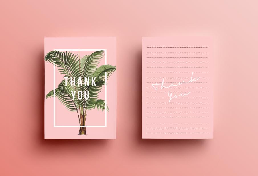 Convite de Casamento botânico: agradecimento
