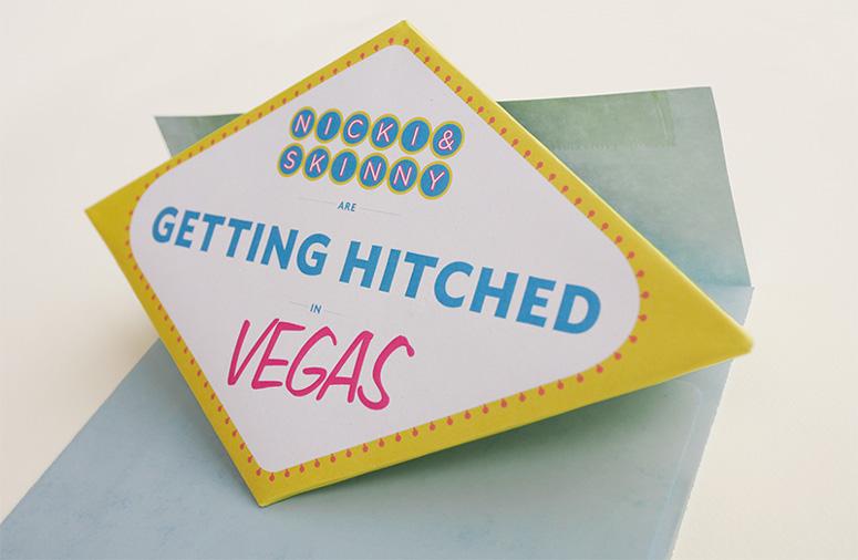 Convite de Casamento Las Vegas