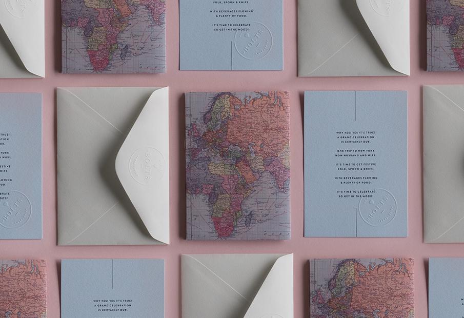 convite casamento mapa mundo