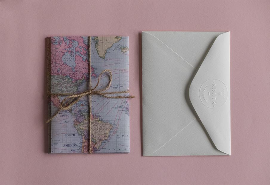 convite casamento mapa mundo: fechado