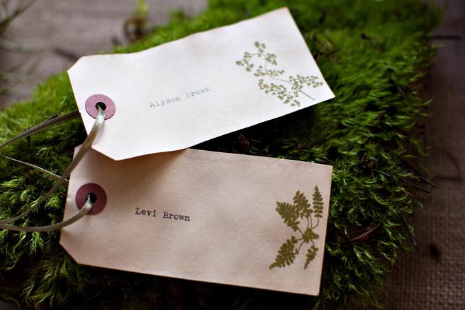 Convite de Casamento Botanico - marcadores