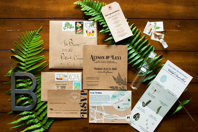 Convite de Casamento Botanico