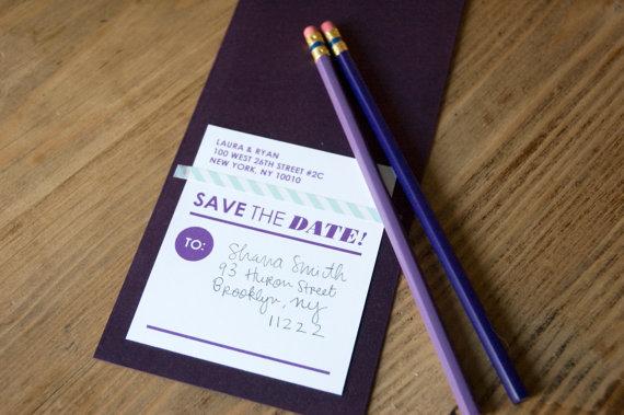 convite de casamento lapis save the date
