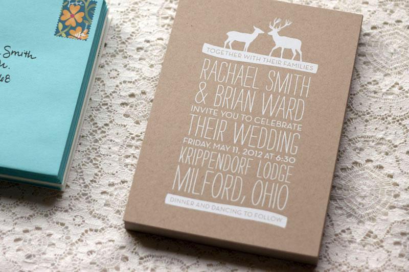 convite de casamento renas sem tecido