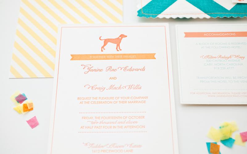 Convite de casamento revivalista e divertido pormenor