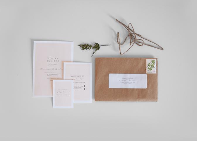 Convite de casamento botanico geral