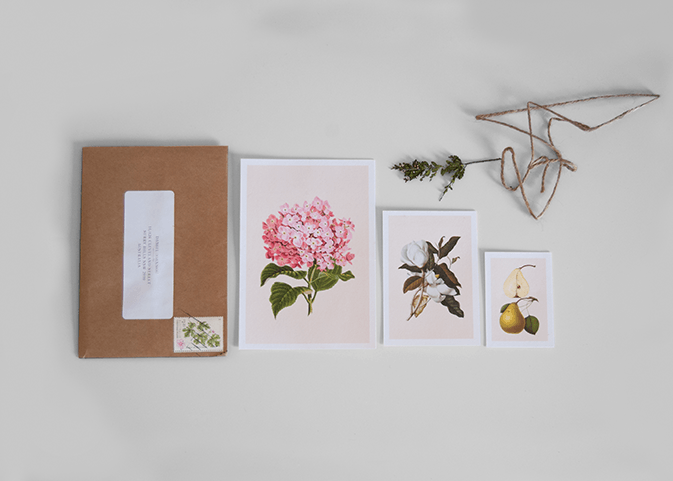 Convite de casamento botanico verso