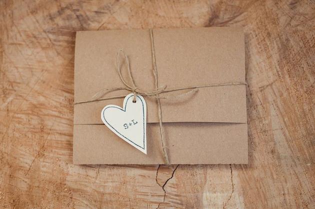 convite de casamento com amor fechado pormenor