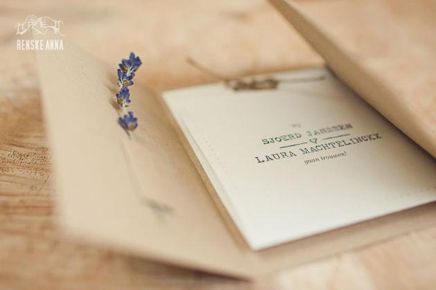 convite de casamento com amor pormenor
