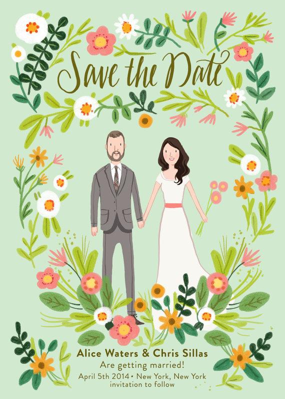 save the date ilustrado