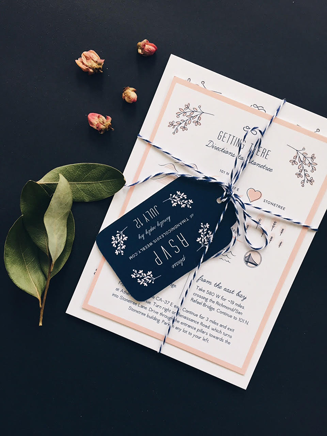 convite de casamento com letterings