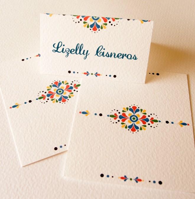 Convite de casamento mexicano marcadores de mesa