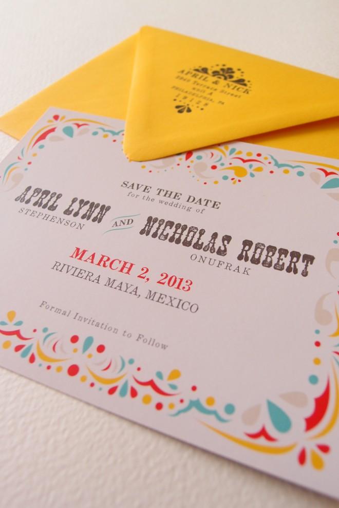 Convite de casamento mexicano