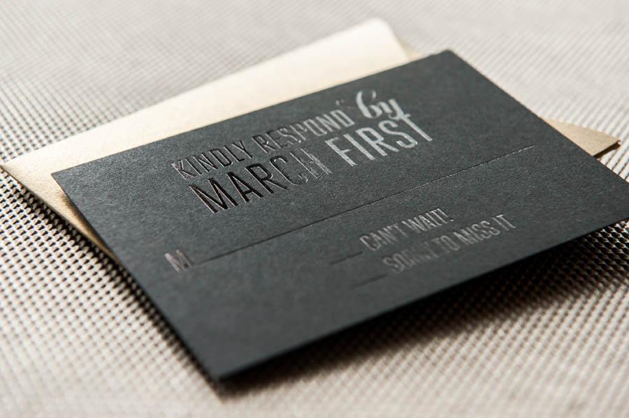 convite de casamento preto pormenor 2