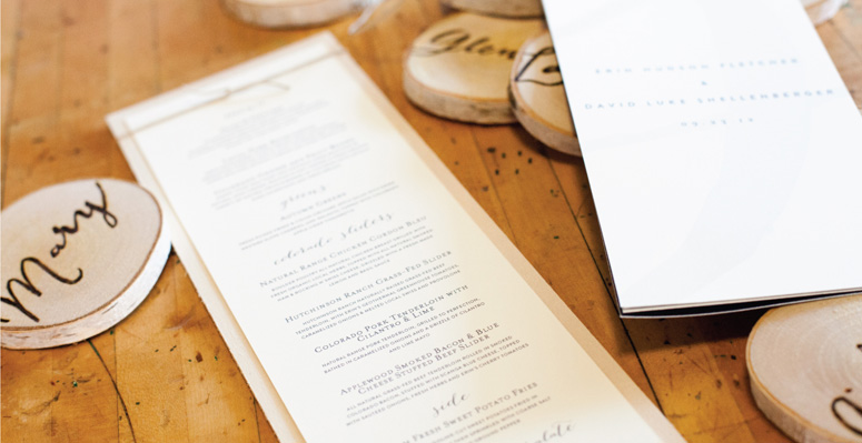 convite de casamento rustico menu e marcadores