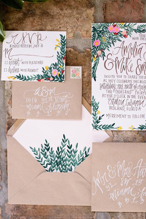 Convite de casamento inspirado na Toscania geral