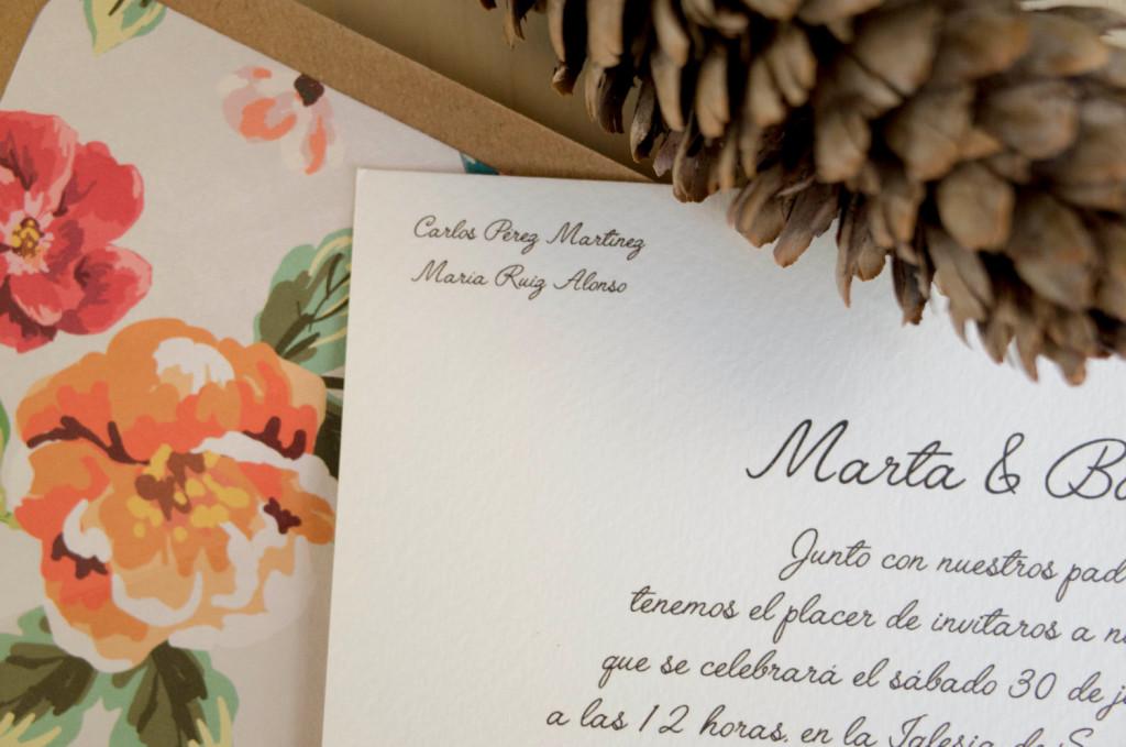 convite de casamento aguarela tipo de letra