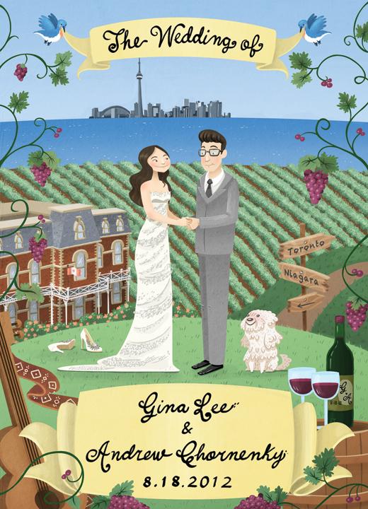 Convite de casamento ilustrado final