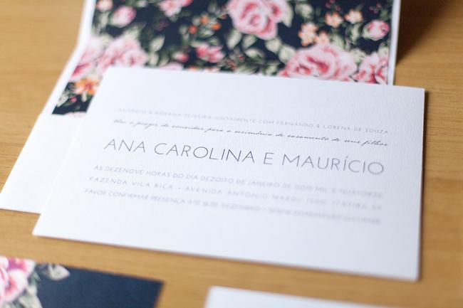 convite de casamento floral premium - convite
