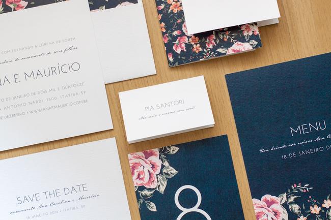 convite de casamento floral premium - geral